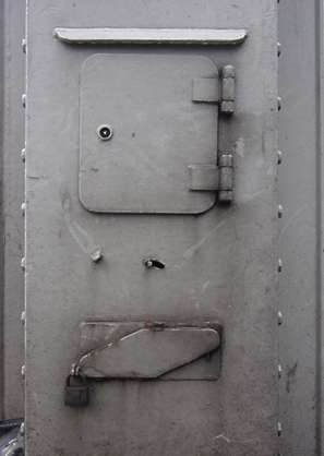metal hinges door dirty