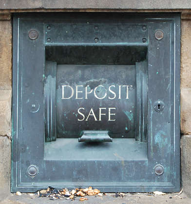 deposit box bronze safe