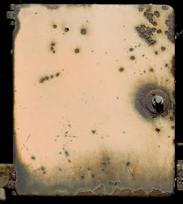 fusebox fuse box metal panel door rust rusted