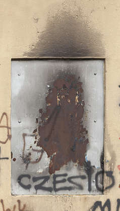 door single metal rusted small