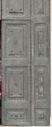 venice italy door metal bronze orname panels church