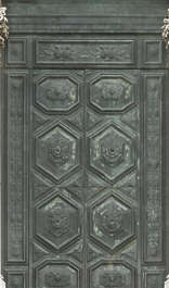 venice italy metal door copper bronze double big ornate