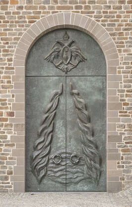 door metal bronze ornate ornament church