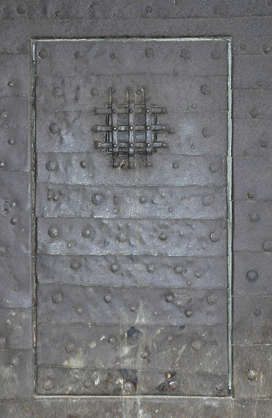 door medieval armored plates rivets
