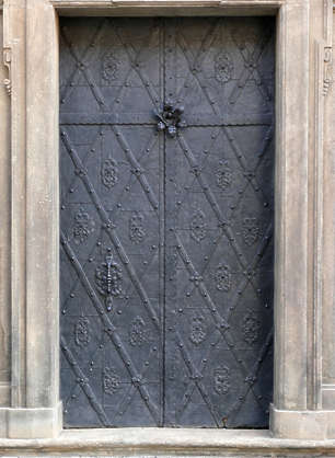 door medieval old ornate metal