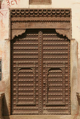india door medieval old wood