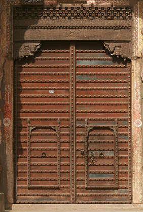 india door medieval wood old