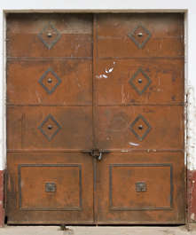 door metal old copper