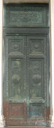 door bronze old metal corroded ornament