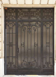 door metal ornate single