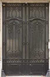 door metal double ornate