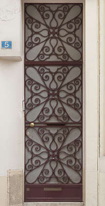 door metal single ornate
