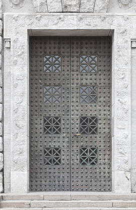 door metal double studded