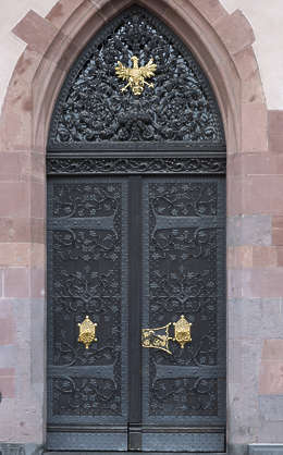 door double ornate metal germany