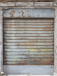 venice italy door metal rollup old