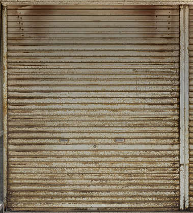 metal rollup door gate shutter corrosion garage