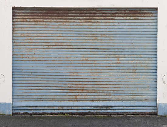 Door Rollup Painted Rust Rusted Metal Garage