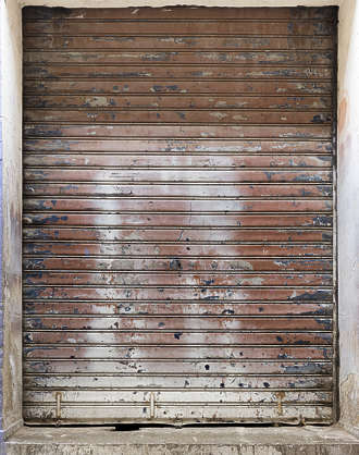 morocco metal door rollup gate rusted old