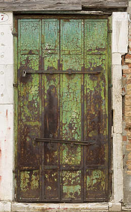 venice italy door metal rusted old paint worn