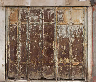venice italy door metal rusted old shop front