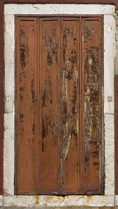 venice italy window shutters metal rusted