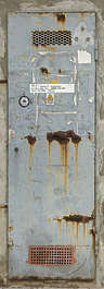 venice italy door metal rusted single