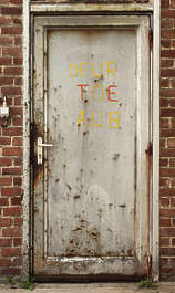 door metal single rust