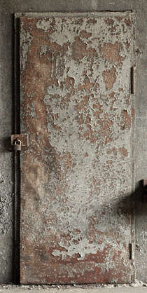door rust rusted old metal single