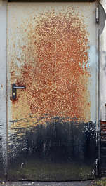 door metal rust rusted old paint single