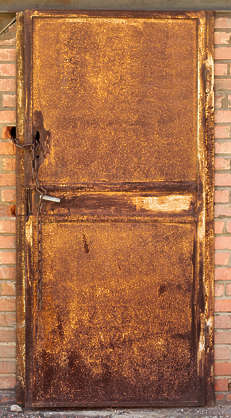 door single industrial rust