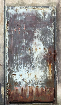 door industrial single metal rusted old