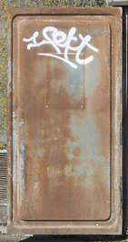 door industrial metal old rusted
