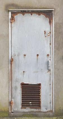 door single old rusted vent metal