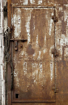 door old metal rusted rust