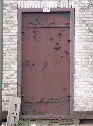 door metal rust paint damaged