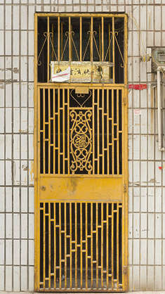 china door single metal grate grating