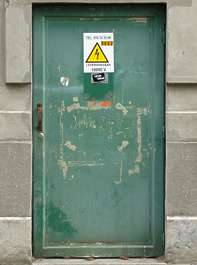 door green industrial metal