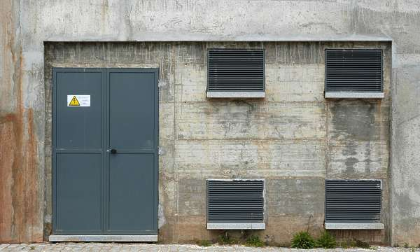 door industrial metal ventilation