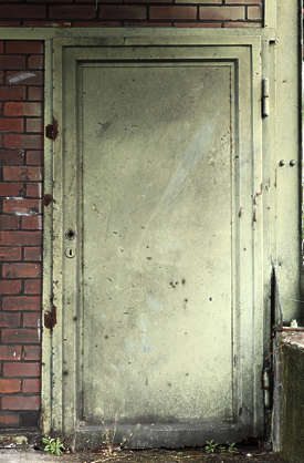 door industrial metal single