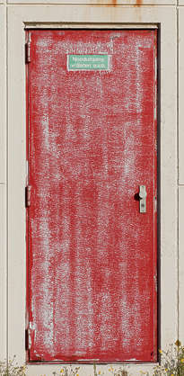 door single metal old