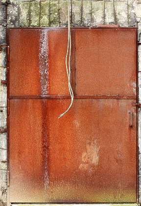 door metal rusted