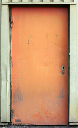 door metal single dirty