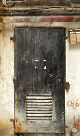 door single metal old vent dirty hong kong hongkong