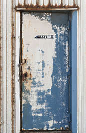 door single old worn metal