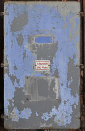 door metal old worn