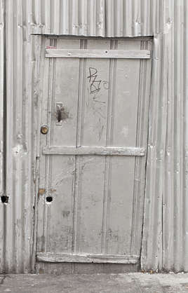 brooklyn NY new york door single metal old shed