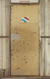 door metal single weathered