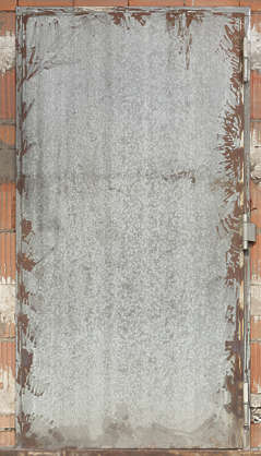 door metal single plate galvanized