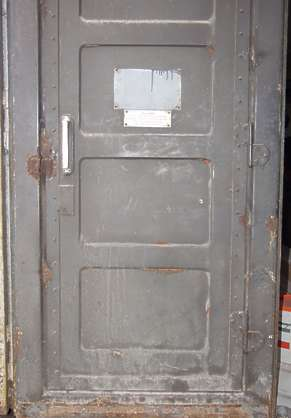 door metal dirty paint
