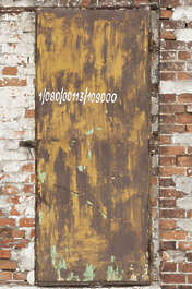 door single rusted